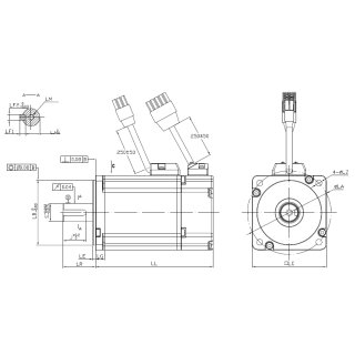 750W 230V AC Servomotor 2,39Nm 80DNMA2-0D75-