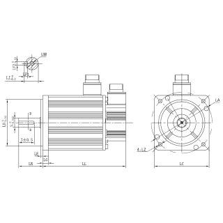 1000W 230V AC Servomotor 4,77Nm 130DNMA2-0001-