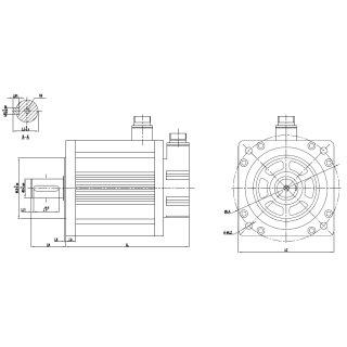 4500W 230V AC Servomotor 28,6Nm 180DNMA2-04D5-