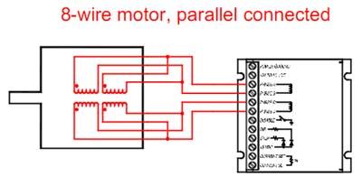 8 wire motor